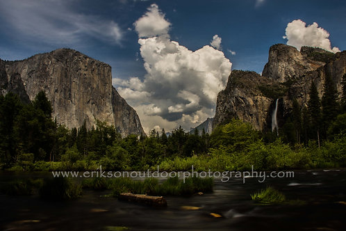 El Capitan & Bridal Veil Fall, Yosemite, California, Cards and Prints