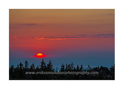Sunset from Cadillac Mountain, Mount Dessert Island, ME, Cards and Prints