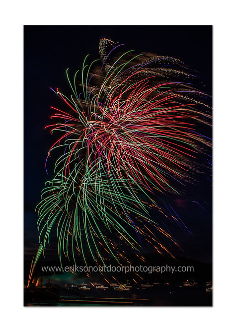 Fourth of July Fireworks, Bar Harbor, ME #2, Cards and Prints