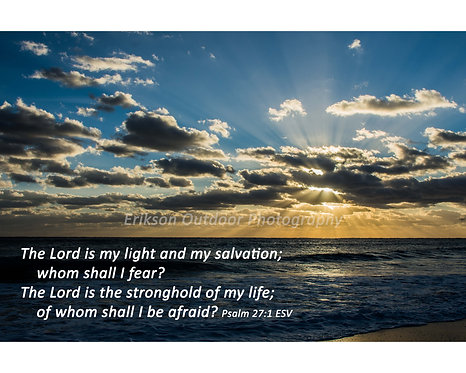 Scripture Psalm 27:1 | English or Spanish | Cards and Prints