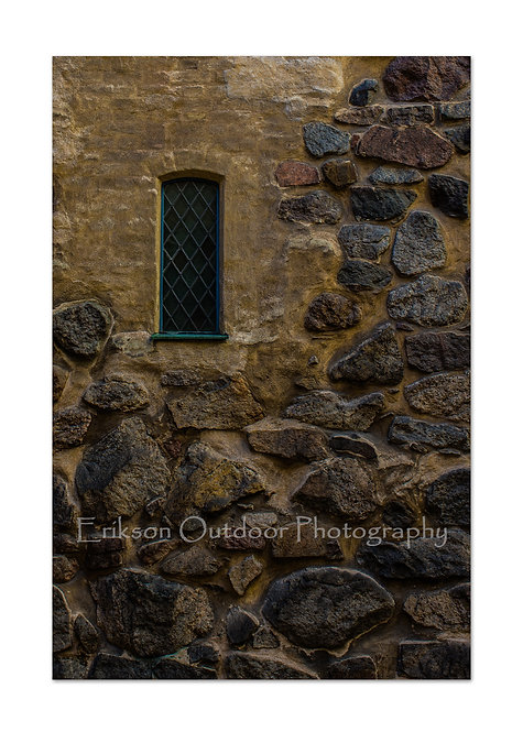 Window & Rock Wall, Cards and Prints