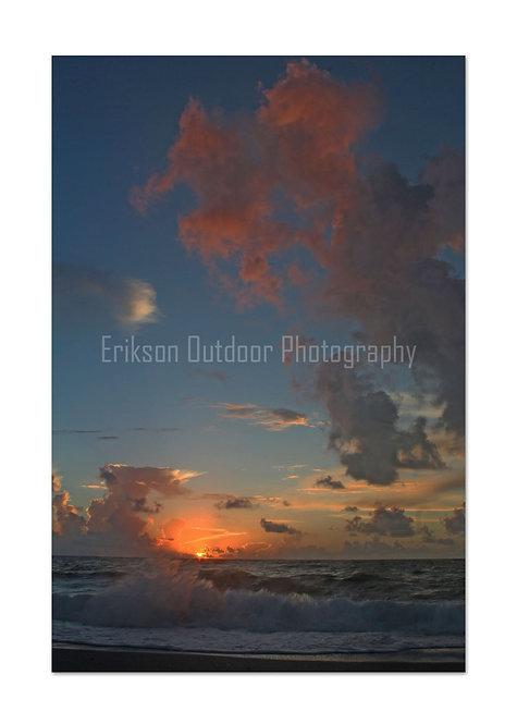 Singer Island Sunrise #3, Cards and Prints