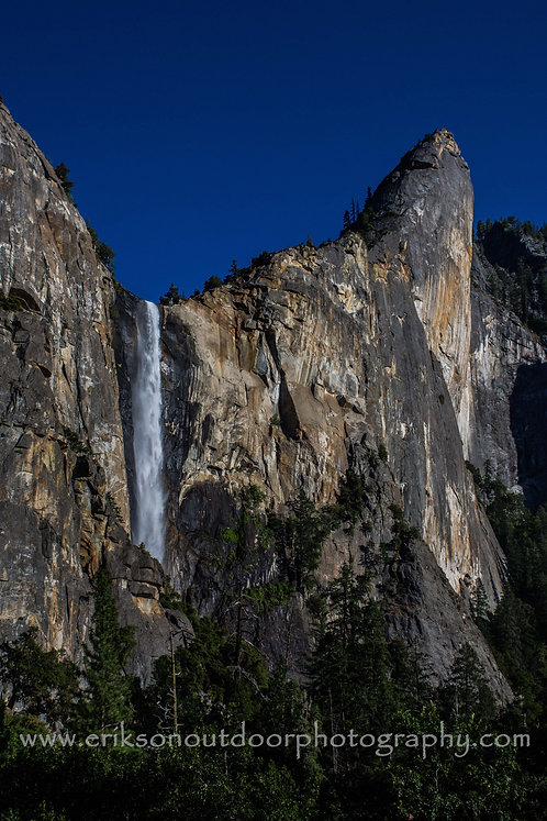 Bridal Veil Fall and Leaning Tower, Yosemite, California, Cards and Prints