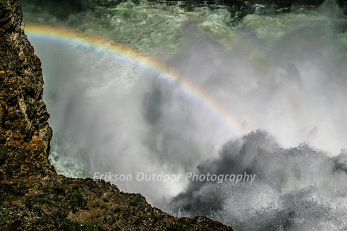 Brink of Upper Falls, Yellowstone River | Cards and Prints