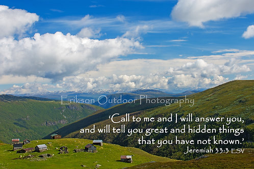 Jeremiah 33:3 | English or Spanish | Cards | Prints | Display Boxes
