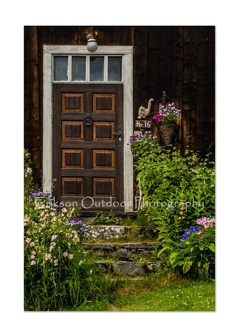 Door & Flowers, Norway, Cards and Prints
