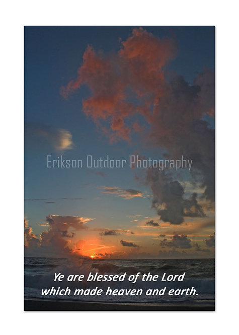 Scripture greeting card KJV, Psalm 115:15