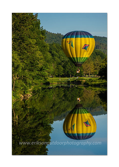 Balloon over the Ottoquechee River #2, Hartford, VT, Cards and Prints