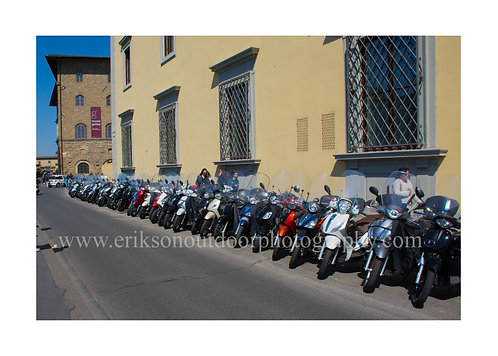 5X7 greeting card / Motorcycle Alley / Florence Italy