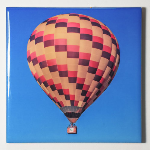 Ceramic Coaster or Trivet - Hot Air Balloon #2, Quechee, Vermont
