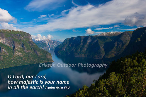 Psalm 8:1a | English or Spanish | Cards | Prints | Display Boxes