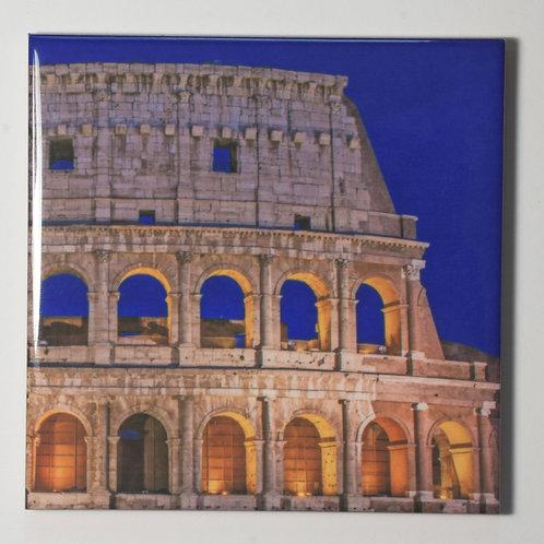 Ceramic Coaster or Trivet - The Colosseum, Rome Italy