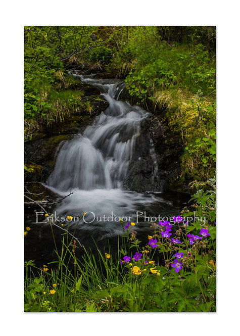 Waterfall In Tyinkrysset, Norway, Cards and Prints