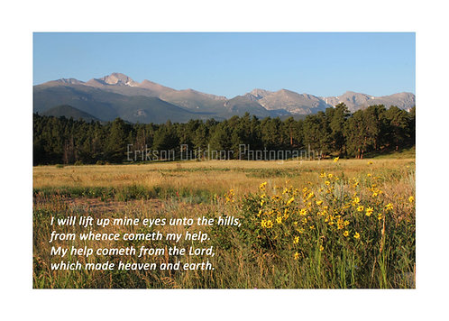 Scripture greeting card KJV, Psalm 121:1&2