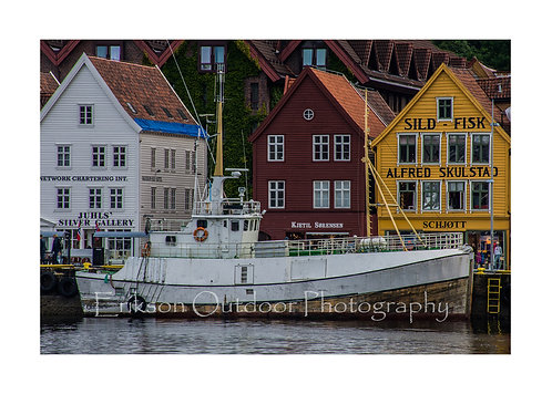 Boat In Bergen, Norway, Cards and Prints
