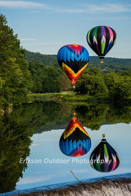 Balloons over Ottoquechee River, Cards and Prints