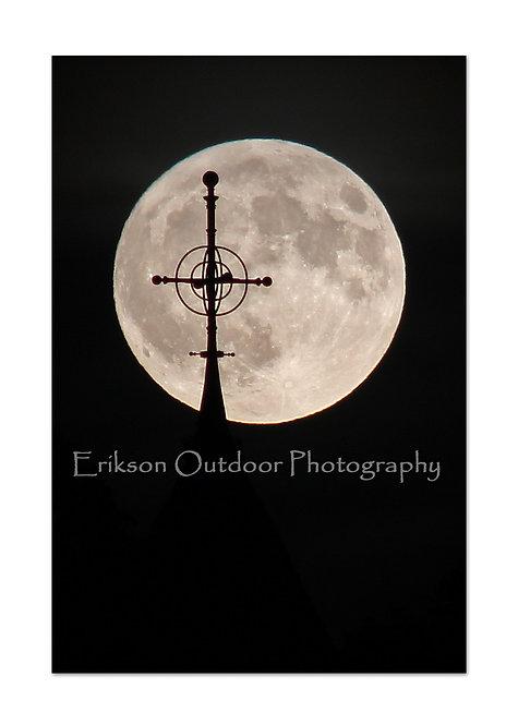 Moon Rise Behind First Parish Steeple