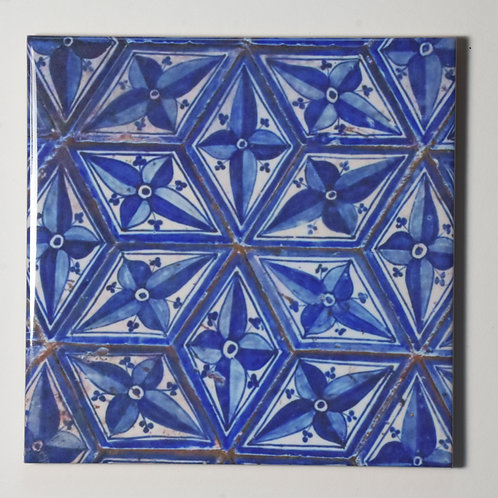 Ceramic Coaster or Trivet - Print Of Floor Tile From The Vatican