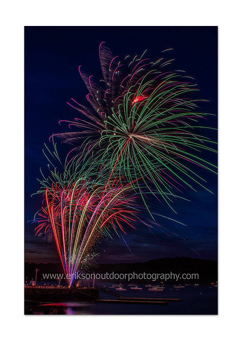 Fourth of July Fireworks, Bar Harbor, ME #4, Cards and Prints