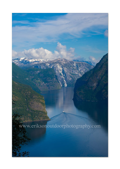 Aurlandsfjorden / Aurland, Norway, Cards and Prints