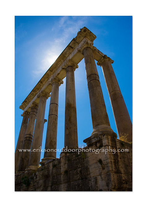 Temple of Saturn, Rome, Cards and Prints