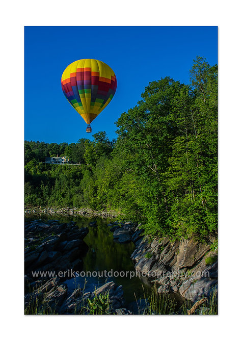 Balloon over the Ottoquechee River, Hartford, VT, Cards and Prints