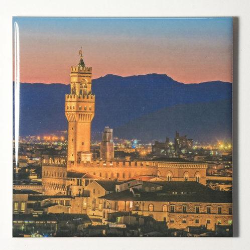 Ceramic Coaster or Trivet - Palazzo Vecchio, Florence Italy