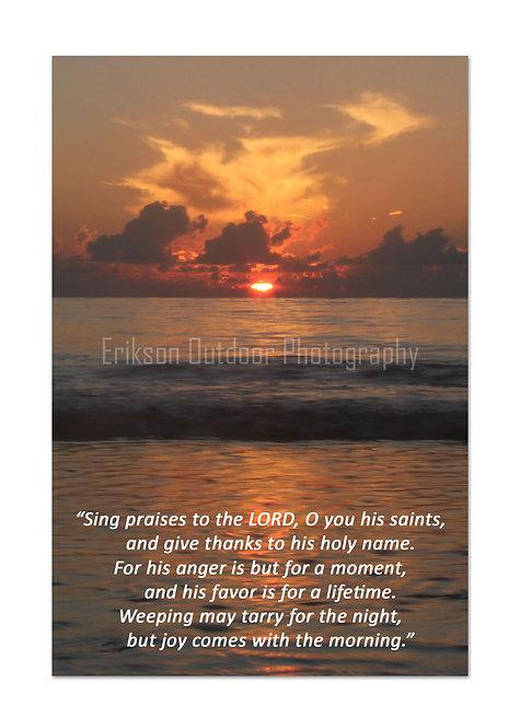 ESV Scripture greeting cards, Psalm 30:5&6