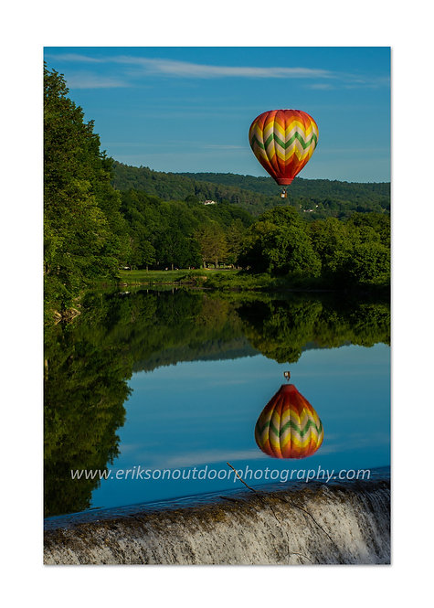 Balloon over the Ottoquechee River #4, Hartford, VT, Cards and Prints