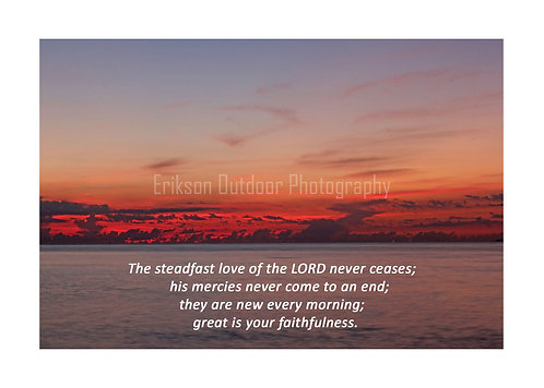 ESV Scripture greeting cards, Lamentations 3:22&23