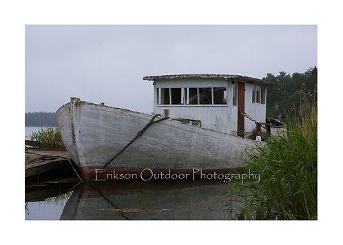 Boat In Lemland, Lemland, Aland Islands, Finland, Cards and Prints