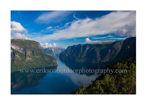 5X7 greeting card/Aurlandsfjorden, Aurland, Norway