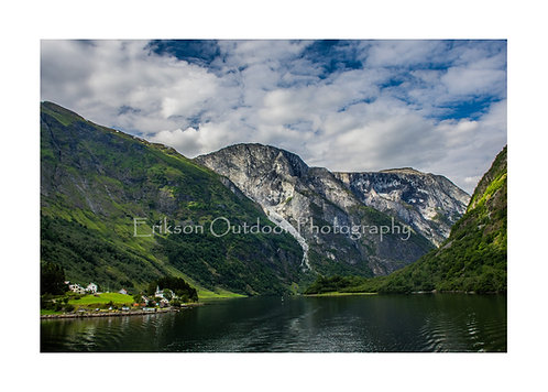 Village in the Narrowfjord, Norway, Cards and Prints