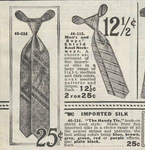 Shield Knot Neckwear. Eaton's Fall and Winter Catalogue, 1915-1916.