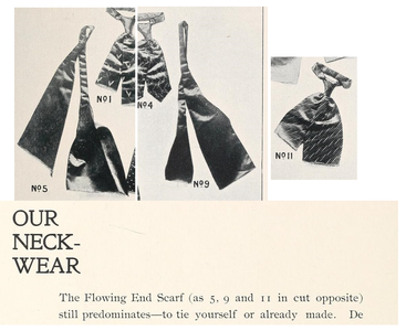 Flowing ends scarves. Mann & Dilks, Dressing By Mail Catalogue, 1895.