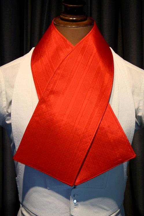Oxford Muffler - Brilliant Red Taffeta Moire Full Dress Protector