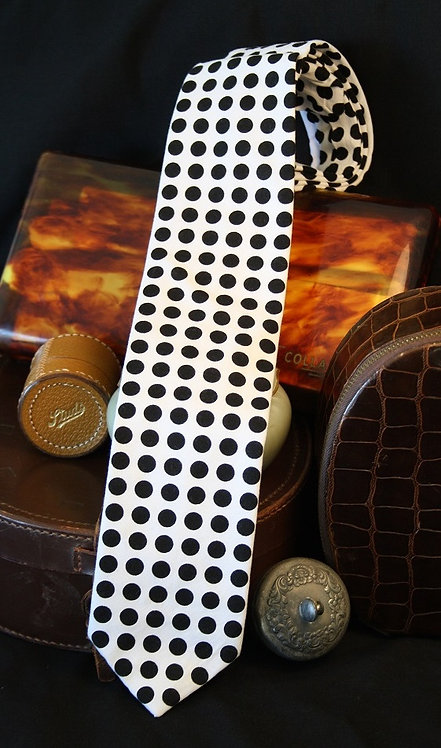 Black Polka Dot - Cotton Tie