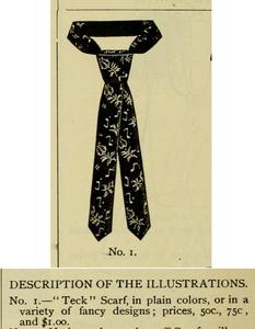 """Teck"" scarf. Strawbridge & Clothiers Quarterly, 1882"
