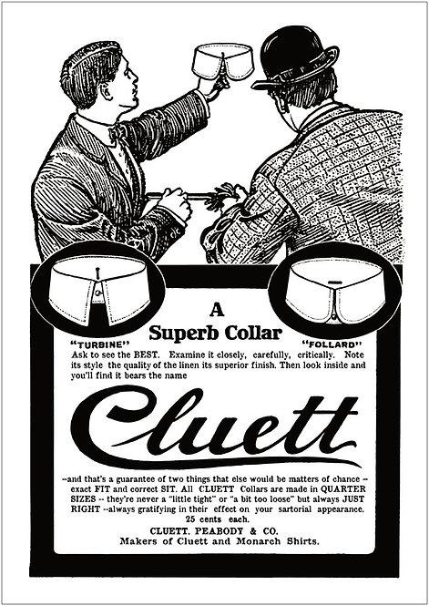 Poster - Cluett Advert - B2 Size 50cm x 70.7cm