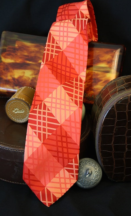 Orange Hash - Silk Tie