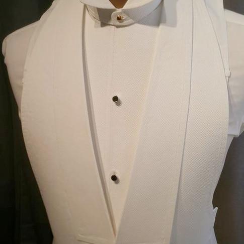 Washable Stiff Marcella Vest, Washable Stiff Deatchable Ferguson Bib and Washab le Stiff Epoche Collar