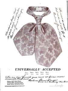 """Regent Club"" teck scarf. The Clothier & Furniture Catalogue, 1894."