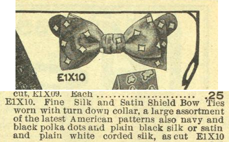 Shield Bow. Eatons Spring and Summer Catalogue, 1907.