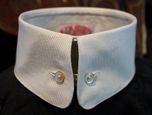 "Nassau Buttonlink Collar - 2 1/8"" - From $45.00 - Two Different Fabrics"