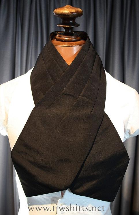 Pleated Black Silk Faille Full Dress Protector