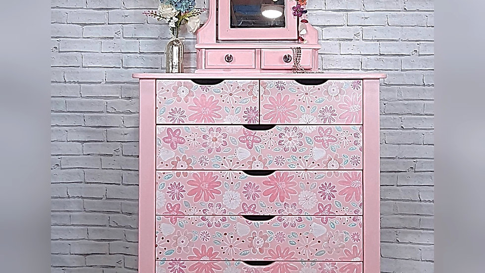 Pastel Boho Chest of Drawers
