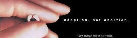 Adoption not Abortion