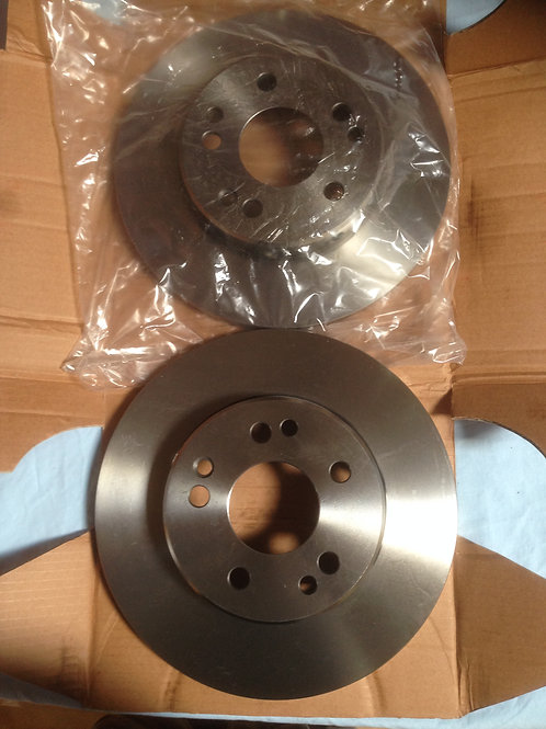 Mercedes W124 Solid Brake Rotor Set Front - 124 421 13 12, 1244211312