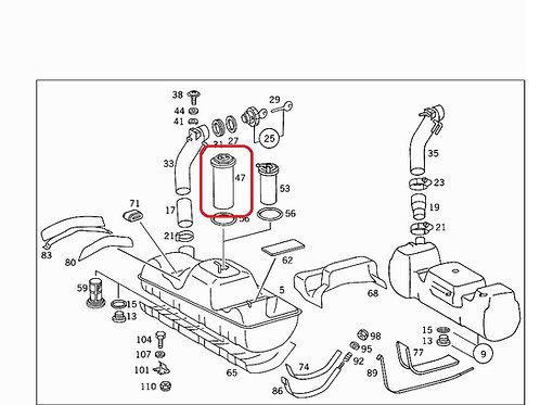 Mercedes W460 – W461 Fuel Tank Sender early: - 005 542 08 17, 0055420817