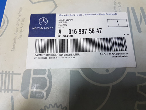 Mercedes W461 - Seal Ring OUTER WHEEL HUB - 016 997 56 47, 0169975647